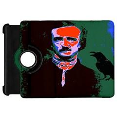 Edgar Allan Poe Pop Art  Kindle Fire Hd Flip 360 Case by icarusismartdesigns