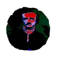 Edgar Allan Poe Pop Art  Standard 15  Premium Round Cushions by icarusismartdesigns