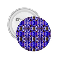 Blue White Abstract Flower Pattern 2 25  Buttons by Costasonlineshop