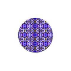 Blue White Abstract Flower Pattern Golf Ball Marker (4 pack) by Costasonlineshop