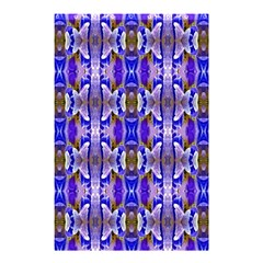 Blue White Abstract Flower Pattern Shower Curtain 48  x 72  (Small)  by Costasonlineshop