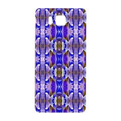 Blue White Abstract Flower Pattern Samsung Galaxy Alpha Hardshell Back Case by Costasonlineshop