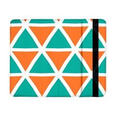 Orange Green Triangles Pattern samsung Galaxy Tab Pro 8 4  Flip Case by LalyLauraFLM