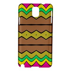 Rhombus And Waves samsung Galaxy Note 3 N9005 Hardshell Case by LalyLauraFLM