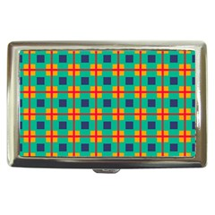 Squares In Retro Colors Pattern cigarette Money Case by LalyLauraFLM