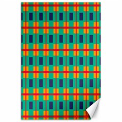 Squares In Retro Colors Pattern canvas 20  X 30  by LalyLauraFLM