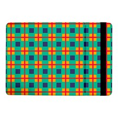 Squares In Retro Colors Pattern 			samsung Galaxy Tab Pro 10 1  Flip Case by LalyLauraFLM