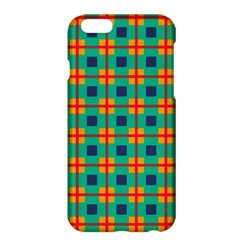Squares In Retro Colors Pattern apple Iphone 6 Plus/6s Plus Hardshell Case by LalyLauraFLM
