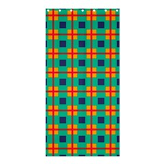 Squares In Retro Colors Pattern 	shower Curtain 36  X 72  by LalyLauraFLM