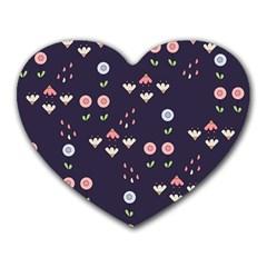 Summer Garden Mouse Pad (heart) by Kathrinlegg