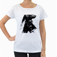 Assassins Creed Black Flag Tshirt Women s Loose Fit T Shirt (white) by iankingart