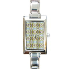 Beautiful White Yellow Rose Pattern Rectangle Italian Charm Watches by Costasonlineshop