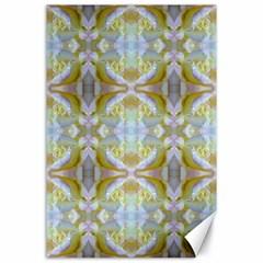 Beautiful White Yellow Rose Pattern Canvas 24  X 36  by Costasonlineshop