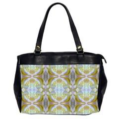 Beautiful White Yellow Rose Pattern Office Handbags (2 Sides)  by Costasonlineshop