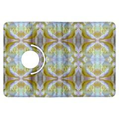 Beautiful White Yellow Rose Pattern Kindle Fire Hdx Flip 360 Case by Costasonlineshop