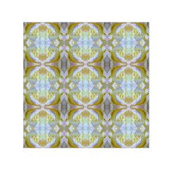 Beautiful White Yellow Rose Pattern Small Satin Scarf (square) by Costasonlineshop