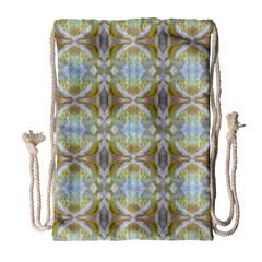 Beautiful White Yellow Rose Pattern Drawstring Bag (large) by Costasonlineshop