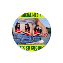 5000x5000 Social Media Z Haslem Rubber Round Coaster (4 pack)  by RakeClag