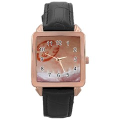 Pork Skin Rose Gold Watches by RakeClag