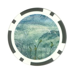 Nature Photo Collage Poker Chip Card Guards by dflcprints