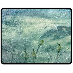 Nature Photo Collage Double Sided Fleece Blanket (medium)  by dflcprints
