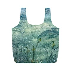 Nature Photo Collage Full Print Recycle Bags (M)  by dflcprints