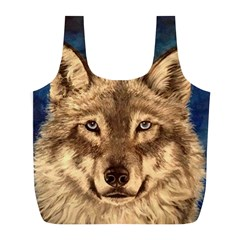Wolf Reusable Bag (L) by ArtByThree