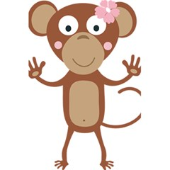 Female Monkey With Flower 5 5  X 8 5  Notebooks by ilovecotton