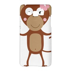 Female Monkey With Flower Samsung Galaxy A5 Hardshell Case  by ilovecotton