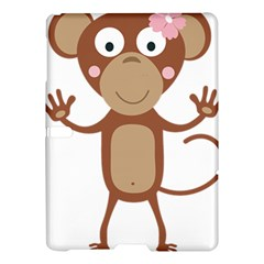 Female monkey with flower Samsung Galaxy Tab S (10.5 ) Hardshell Case  by ilovecotton
