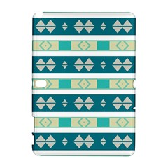 Rhombus and stripes Samsung Galaxy Note 10.1 (P600) Hardshell Case by LalyLauraFLM