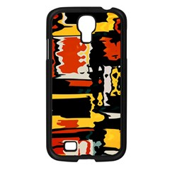 Distorted Shapes In Retro Colors 			samsung Galaxy S4 I9500/ I9505 Case (black) by LalyLauraFLM