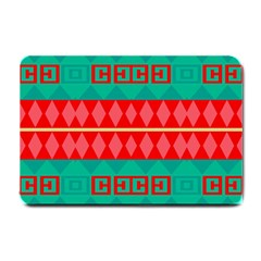 Rhombus Stripes And Other Shapes 			small Doormat by LalyLauraFLM