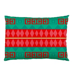 Rhombus Stripes And Other Shapes pillow Case by LalyLauraFLM