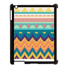Pastel Tribal Design apple Ipad 3/4 Case (black) by LalyLauraFLM
