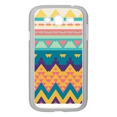 Pastel Tribal Design samsung Galaxy Grand Duos I9082 Case (white) by LalyLauraFLM