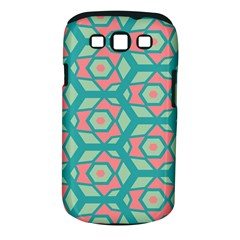 Pink Honeycombs Flowers Pattern  samsung Galaxy S Iii Classic Hardshell Case (pc+silicone) by LalyLauraFLM