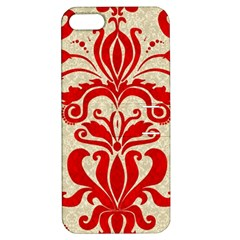 Ruby Red Swirls Apple Iphone 5 Hardshell Case With Stand by SalonOfArtDesigns