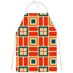 Squares And Rectangles In Retro Colors full Print Apron by LalyLauraFLM
