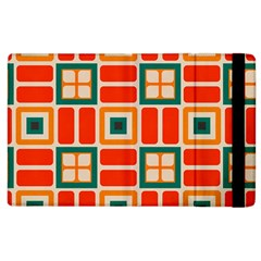 Squares And Rectangles In Retro Colors 			apple Ipad 3/4 Flip Case by LalyLauraFLM