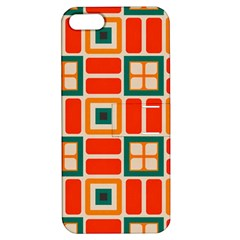 Squares And Rectangles In Retro Colors 			apple Iphone 5 Hardshell Case With Stand by LalyLauraFLM