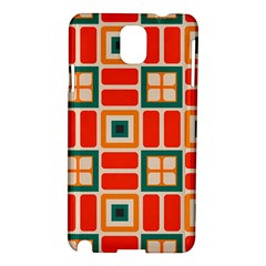 Squares And Rectangles In Retro Colors samsung Galaxy Note 3 N9005 Hardshell Case by LalyLauraFLM
