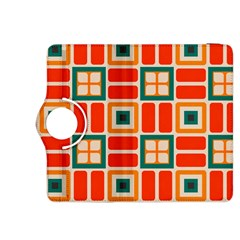 Squares and rectangles in retro colors 			Kindle Fire HDX 8.9  Flip 360 Case by LalyLauraFLM