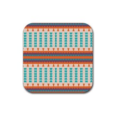 Etnic Design rubber Square Coaster (4 Pack by LalyLauraFLM