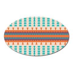 Etnic Design magnet (oval) by LalyLauraFLM