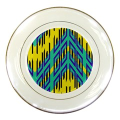 Tribal Angles 			porcelain Plate by LalyLauraFLM
