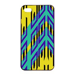 Tribal Angles apple Iphone 4/4s Seamless Case (black) by LalyLauraFLM