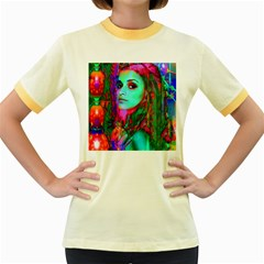 Alice In Wonderland Women s Fitted Ringer T Shirts by icarusismartdesigns