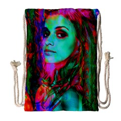 Alice In Wonderland Drawstring Bag (large) by icarusismartdesigns