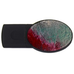 Metallic Abstract 1 Usb Flash Drive Oval (4 Gb)  by timelessartoncanvas